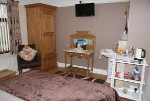 The Swan room at Orchard Side Bed and Breakfast, Hanley Swan
