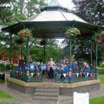 Malvern priory park bandstand