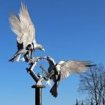 Malvern sculpture buzzards
