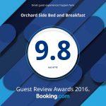 Malvern B&B booking.com award